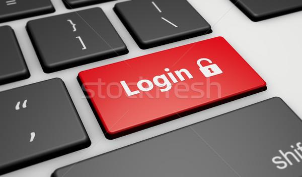 Login ikona podpisania przycisk Internetu Zdjęcia stock © NiroDesign