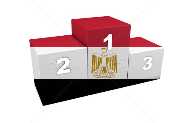 Египет подиум египетский Top позиции 3D Сток-фото © NiroDesign