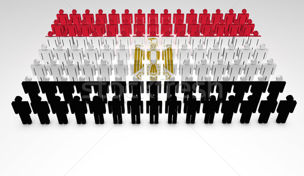 Egyptian Flag Parade Stock photo © NiroDesign