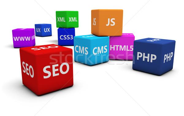 Seo Webデザイン 開発 インターネット プログラミング 言語 ストックフォト © NiroDesign
