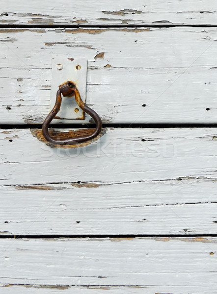 Old Rusted Door Knocker Stock photo © NiroDesign