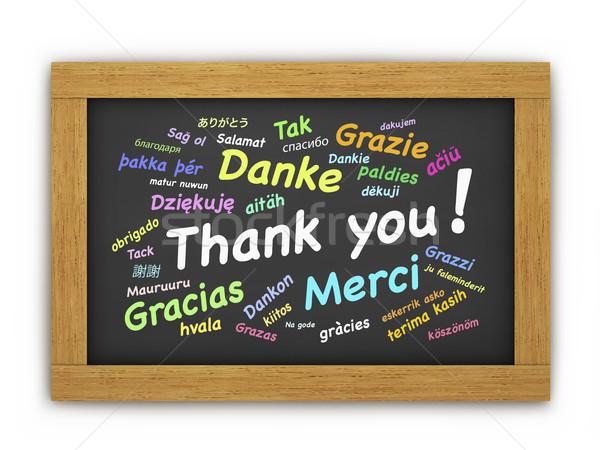международных спасибо доске красочный текста различный Сток-фото © NiroDesign