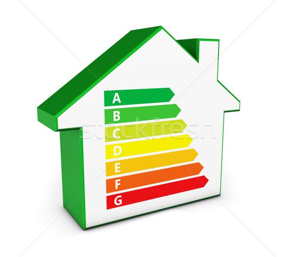 Home icon groene energie onroerend business milieu Stockfoto © NiroDesign