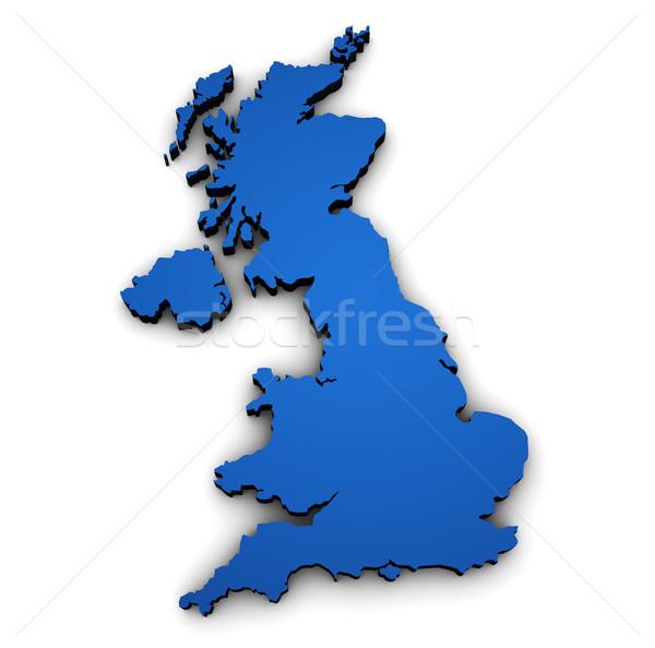 Uk British Map Shape Stock photo © NiroDesign