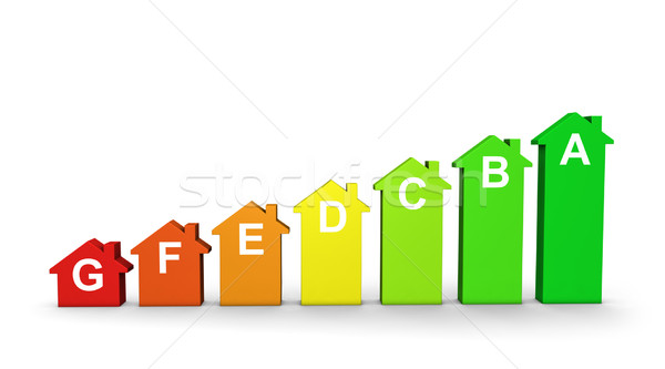 Home Energy Efficiency Labels Graph Stock photo © NiroDesign