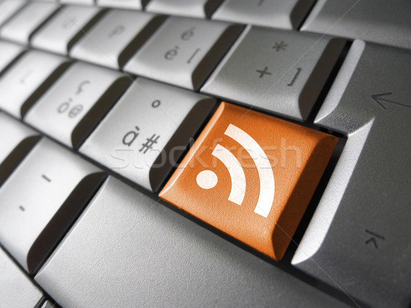 Rss feed nieuws symbool web internet icon Stockfoto © NiroDesign