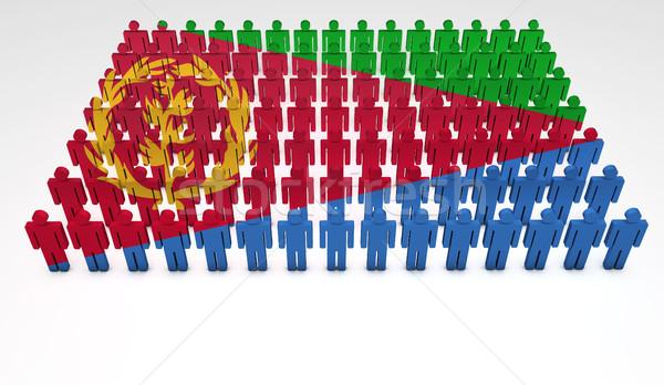 Eritrea Flag Parade Stock photo © NiroDesign