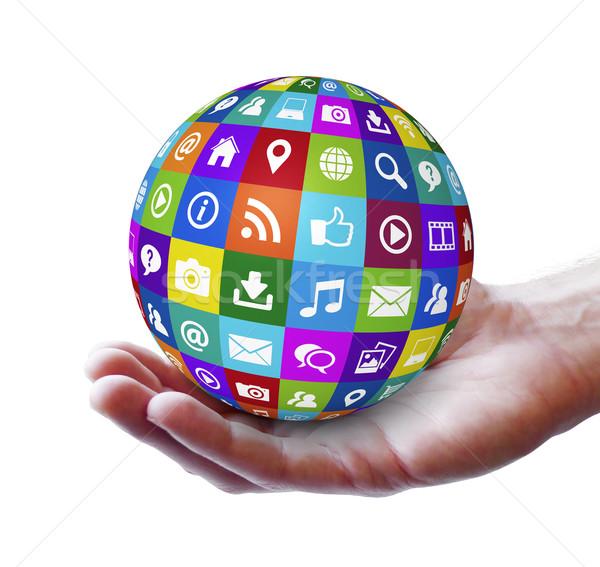 Web internet design tecnologia icone Foto d'archivio © NiroDesign