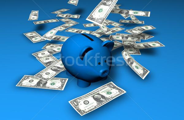 Piggy Bank Savings Waterfall Stock photo © NiroDesign