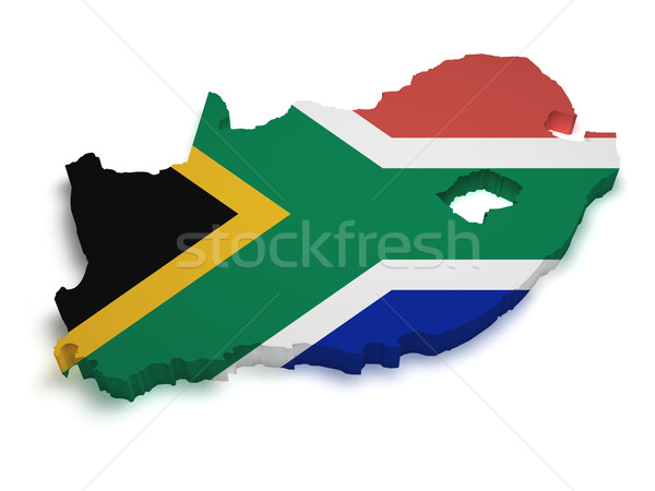 Shape Of Africa Map.South Africa Map Flag Shape Stock Photo C Nirodesign 3166182