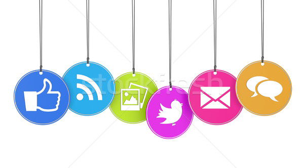 Web social media website internet iconen kleurrijk Stockfoto © NiroDesign