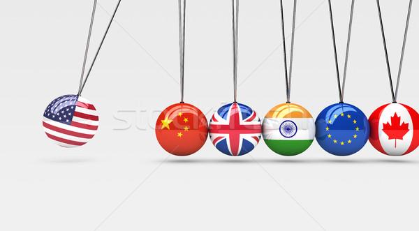 Globale economie internationale bedrijfsleven relatie internationale landen Stockfoto © NiroDesign