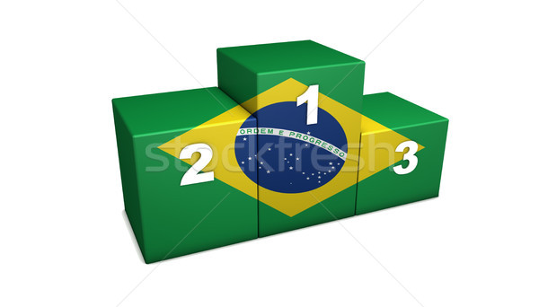 Brazilian Flag Podium Stock photo © NiroDesign