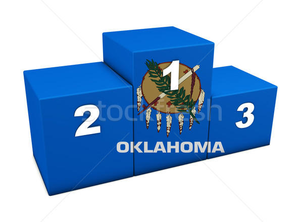 Oklahoma State Flag Podium Stock photo © NiroDesign