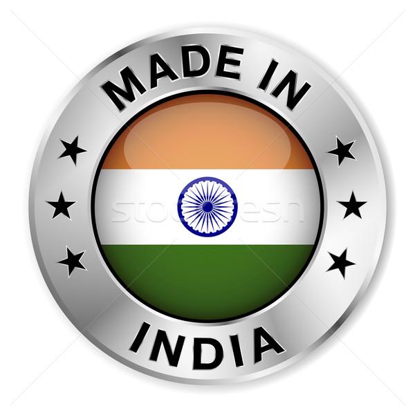Índia prata distintivo ícone central Foto stock © NiroDesign