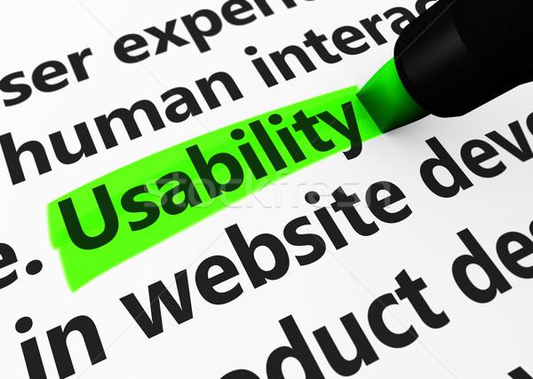 Web Usability Sign Concept Stock photo © NiroDesign