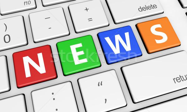 News segno tastiera digitale media online Foto d'archivio © NiroDesign