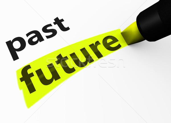 将来 対 過去 生活 ポジティブ ビジネス ストックフォト © NiroDesign