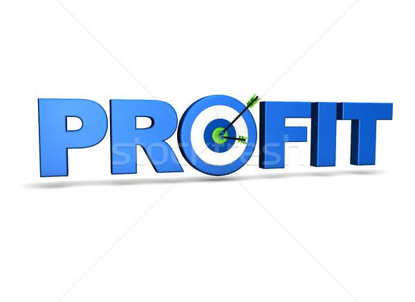 Business profitto target due frecce verde Foto d'archivio © NiroDesign