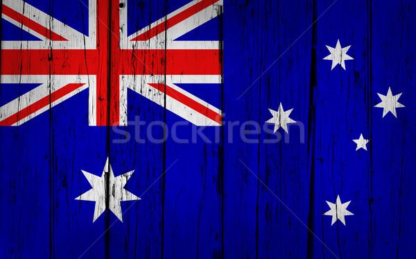 Australia Flag Grunge Background Stock photo © NiroDesign