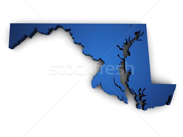 Map Of Maryland 3d Shape Stock photo © NiroDesign