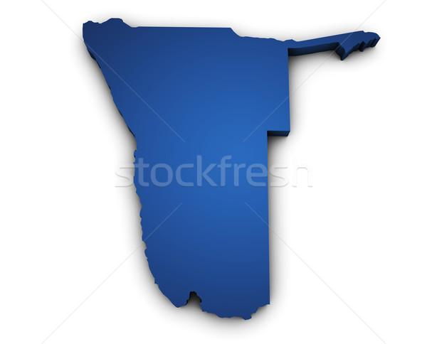 карта Намибия 3D форма синий Сток-фото © NiroDesign