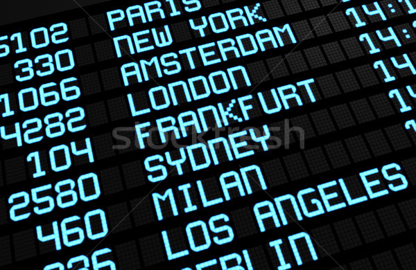 Airport Board International Destinations Stock photo © NiroDesign