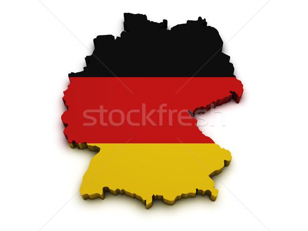 Stock photo: Germany Flag Map Shape