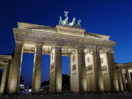 Berlin Brandenburg Gate At Dusk Stock photo © NiroDesign