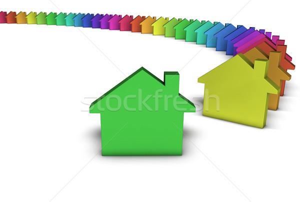 Icona colorato creativo casa servizi Foto d'archivio © NiroDesign