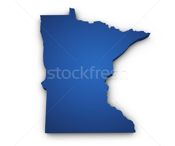 Map Of Minnesota 3d Shape Stock photo © NiroDesign