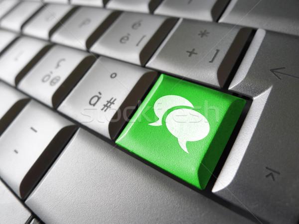 Medios de comunicación social blog web icono símbolo Foto stock © NiroDesign