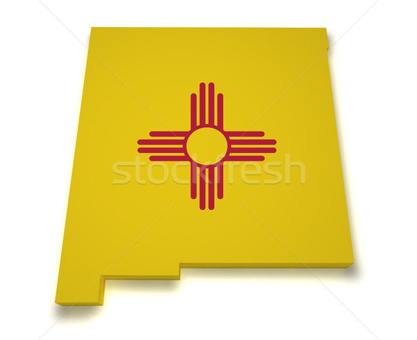 New Mexico Map 3d Shape Stock photo © NiroDesign