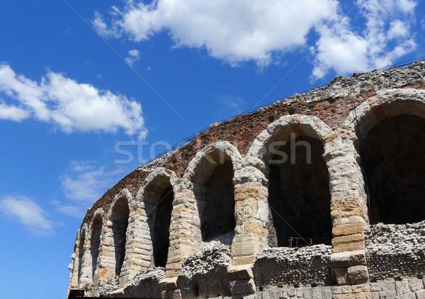 Romano arena verona Itália vista lateral detalhes Foto stock © NiroDesign