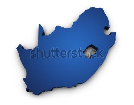 Pokaż Południowej Afryki 3D kolorowy niebieski Zdjęcia stock © NiroDesign