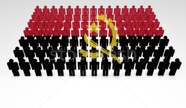 Stok fotoğraf: Tiftik · dokuma · bayrak · 3d · insanlar · üst · görmek