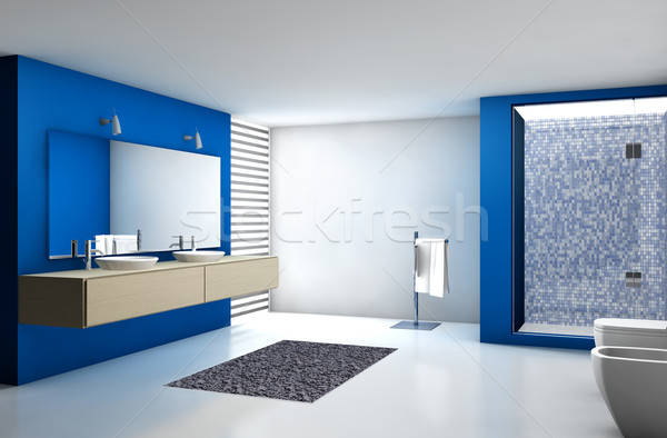 Modern Bathroom Stock photo © NiroDesign