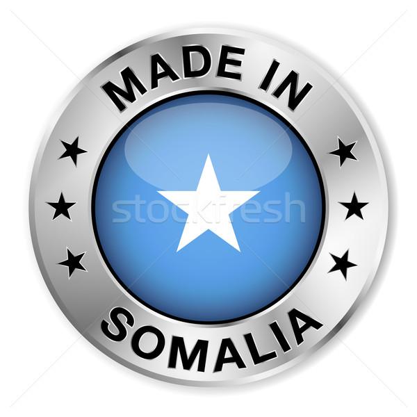 Somalie argent badge icône central Photo stock © NiroDesign