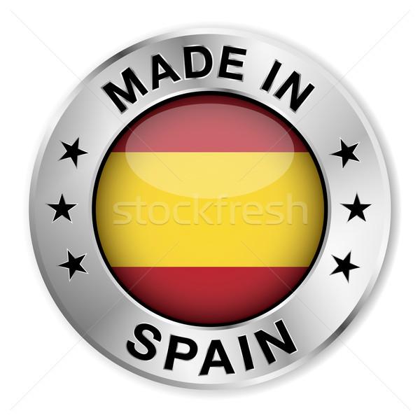 スペイン 銀 バッジ アイコン セントラル ストックフォト © NiroDesign