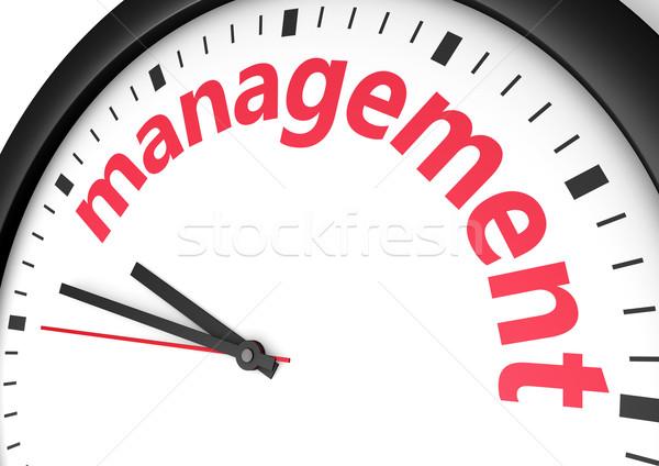 Business illustrazione 3d faccia clock gestione Foto d'archivio © NiroDesign