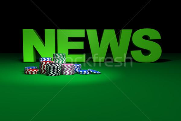 фишки казино Новости знак покер казино игры Сток-фото © NiroDesign