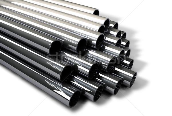 Industrial Metal Tubes Stock photo © NiroDesign