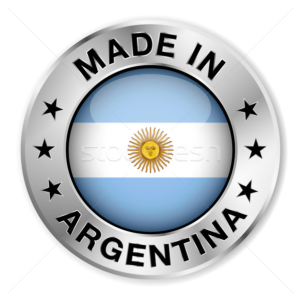 Made In Argentina Silver Badge Stock photo © NiroDesign
