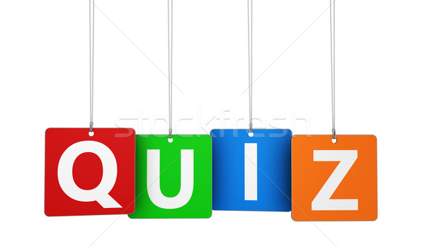 Quiz teken online internet Stockfoto © NiroDesign