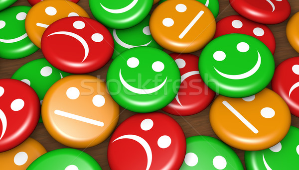 Customer Service Feedback Happy Rating Stock photo © NiroDesign