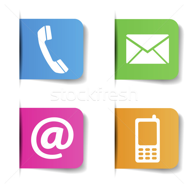 Contact Us Internet Icons Stock photo © NiroDesign