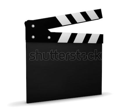 Cinema Video And Movie Blank Clapperboard Stock photo © NiroDesign