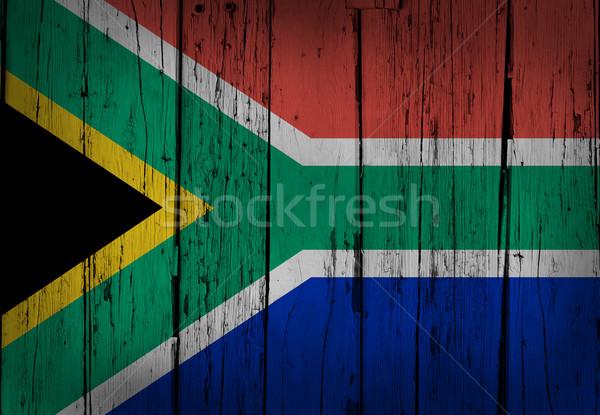 Afrique du Sud grunge bois bois pavillon peint Photo stock © NiroDesign
