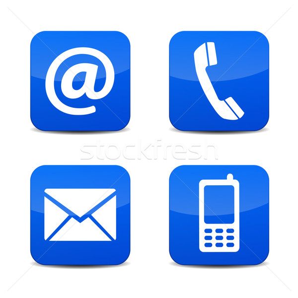 Contact Us Icons Stock photo © NiroDesign