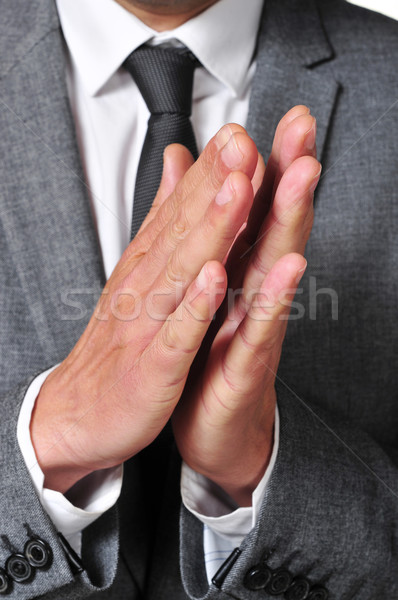 man in suit clapping his hands Stock photo © nito
